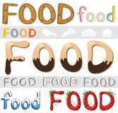 Grupo de arte finala do alimento Imagens de Stock