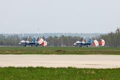 Grupo de aterrissagem SU-27 Fotos de Stock