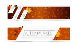 Grupo de Autumn Banners Fotografia de Stock