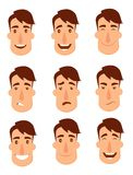 Grupo de avatars Caráteres masculinos Fotografia de Stock