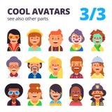 Grupo de avatars lisos Parte 3 Veja igualmente outras peças Fotografia de Stock Royalty Free