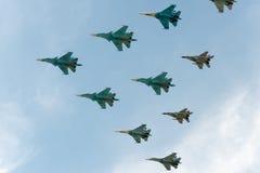 Grupo de aviões Imagens de Stock Royalty Free