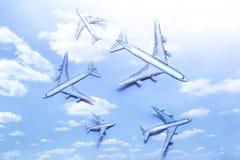 Grupo de aviões de papel pequenos Imagem de Stock Royalty Free