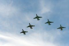 Grupo de aviões Sukhoi Fotografia de Stock Royalty Free