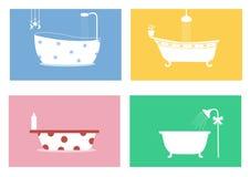 Grupo de bañeras, ejemplos del vector libre illustration