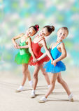 Grupo de bailarinas bonitas Foto de Stock Royalty Free