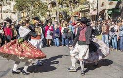 Grupo de bailarines en Valencia, España Imagenes de archivo