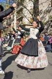 Grupo de bailarines en Valencia, España Fotografía de archivo libre de regalías
