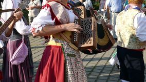 Grupo de bailarines de Italia en traje tradicional almacen de video