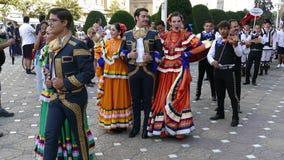 Grupo de bailarines de México en traje tradicional almacen de metraje de vídeo
