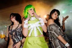 Grupo de bailarines que bailan en la ciudad 2010 vivo Foto de archivo libre de regalías