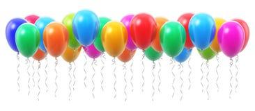 Grupo de balões de ar infláveis da cor Imagem de Stock Royalty Free