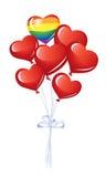 Grupo de balões do coração Imagens de Stock Royalty Free