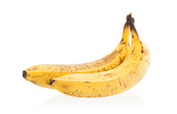 Grupo de bananas maduras excedentes Fotografia de Stock Royalty Free