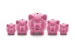 Grupo de bancos piggy Imagem de Stock Royalty Free