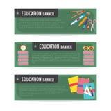 Grupo de bandeira da educação Fotos de Stock Royalty Free