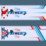 Grupo de bandeira da Web com dia de pai feliz Foto de Stock Royalty Free
