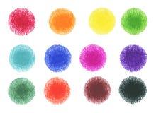 Grupo de bandeira do círculo de marcador do esboço Fotos de Stock Royalty Free