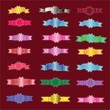Grupo de bandeira Grupo de fita bandeira Fita Fotos de Stock Royalty Free
