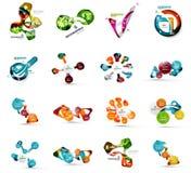 Grupo de bandeira infographic de papel geométrica abstrata Fotografia de Stock Royalty Free