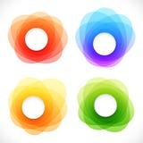 Grupo de bandeiras abstratas redondas coloridas Fotografia de Stock