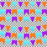 Grupo de bandeiras coloridas Fotografia de Stock Royalty Free