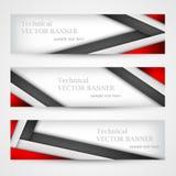 Grupo de bandeiras com linhas papel Molde do projeto de negócio Imagens de Stock