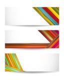 Grupo de bandeiras da cor Fotos de Stock