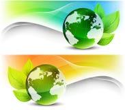 Grupo de bandeiras da ecologia Imagem de Stock