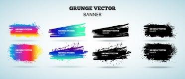 Grupo de bandeiras do vetor do grunge Fotografia de Stock