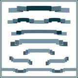 Grupo de bandeiras em cores azuis Imagem de Stock