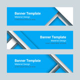 Grupo de bandeiras horizontais coloridas modernas do vetor em um estilo material do projeto Imagens de Stock