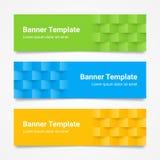 Grupo de bandeiras horizontais coloridas modernas do vetor, encabeçamentos de página Fotos de Stock