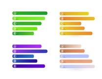 Grupo de bandeiras infographic, ilustração colorida Imagem de Stock Royalty Free