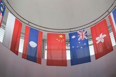 Grupo de bandeiras internacionais Fotografia de Stock Royalty Free