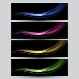 Grupo de bandeiras iridescentes elegantes. Fotografia de Stock Royalty Free