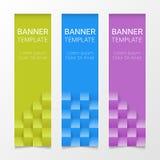Grupo de bandeiras verticais coloridas modernas do vetor, encabeçamentos de página Pode ser usado como um molde do negócio ou em  Fotografia de Stock