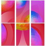 Grupo de bandeiras verticais da Web do mosaico brilhante Imagem de Stock