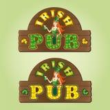 Grupo de bar do irlandês dos quadros indicadores ilustração royalty free