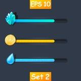 Grupo de barra do recurso do jogo Imagem de Stock Royalty Free