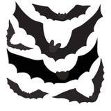 Grupo de bastões pretos das silhuetas, vetor Imagem de Stock Royalty Free