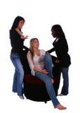 Grupo de bate-papo das mulheres da diversidade Foto de Stock Royalty Free