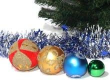 Grupo de Baubles do Natal Fotografia de Stock