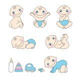 Grupo de bebê. Ilustração do vetor ilustração stock