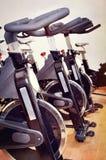 Grupo de bicicletas de giro fotos de archivo