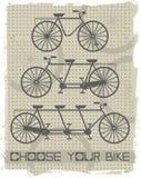 Grupo de bicicletas do vintage Imagens de Stock Royalty Free
