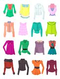 Grupo de blusas e de partes superiores Foto de Stock