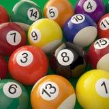 Grupo de bolas de bilhar brilhantes Imagem de Stock Royalty Free