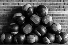 Grupo de bolas de medicina Fotos de archivo libres de regalías