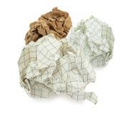 Grupo de bolas de papel arrugadas Fotos de archivo
